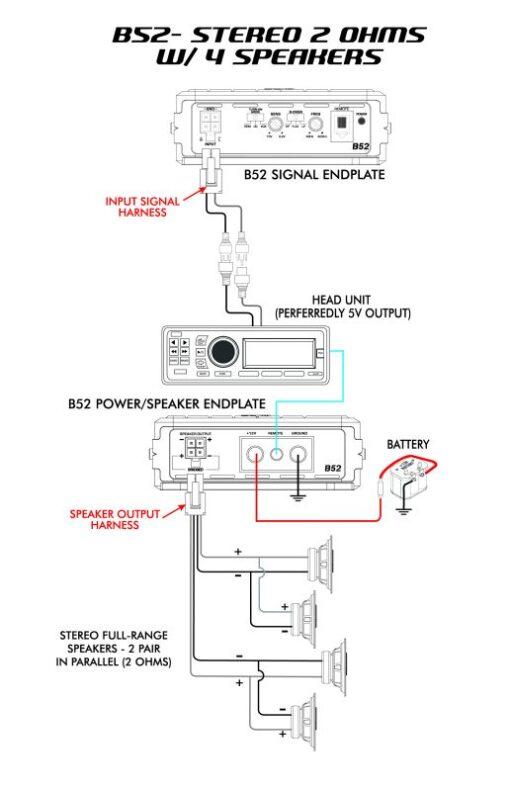 Cerwin Vega B52 Amplificatore schema di collegamento