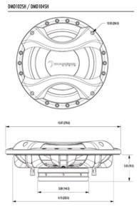Diamond Audio Subwoofer serie DMD104SH