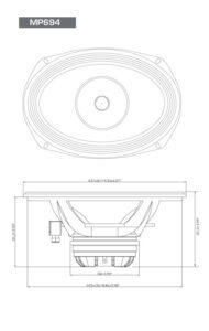 """Diamond Audio MP694 PRO da 6X9""""Altoparlante a tromba coassiale full-range"""